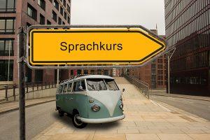 Strassenschild 46 – Sprachkurs